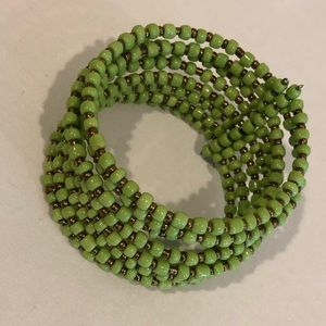 Jewelry - Green Beaded Cuff Bracelet